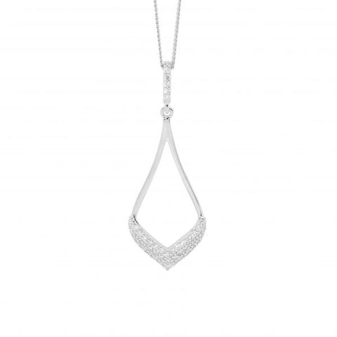Open Teardrop CZ Necklace