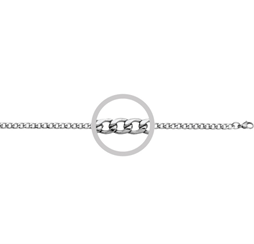 Mens Stainless Steel Oval Curb Chain
