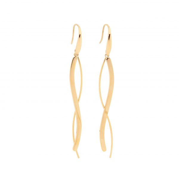 Long Wave Drop Earrings