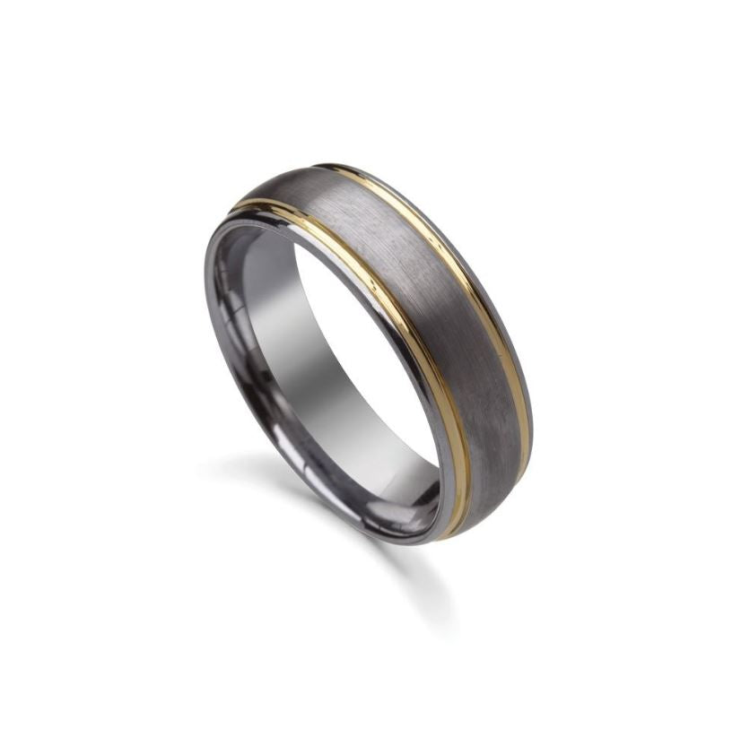 Mens Tungsten Steel Ring