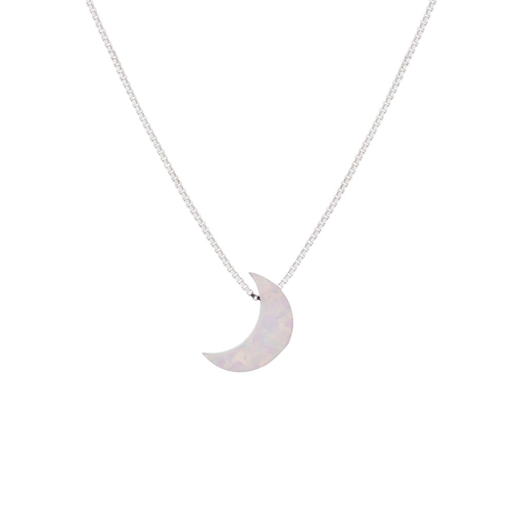 Opalite White Moon Necklace