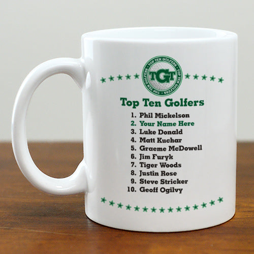 Personalized Top Ten Golfers Mug - Tressa Gifts
