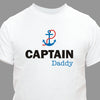 Personalized Captain Dad T-Shirt