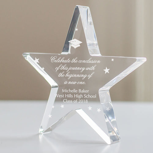 Personalized Graduation Acrylic Star Keepsake - Tressa Gifts