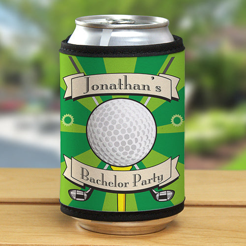 Personalized Golf Can Wrap Foam Koozie - Tressa Gifts
