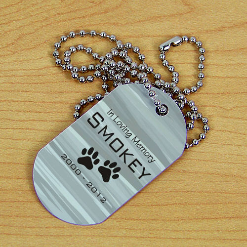 Personalized Pet Memorial Dog Tag