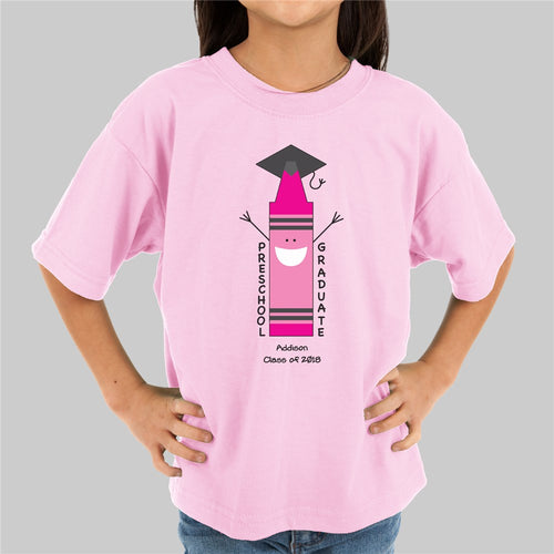 Personalized Preschool pink Graduation T-Shirt - Tressa Gifts