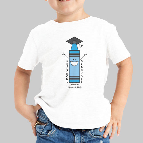 Personalized Preschool Blue Graduation T-Shirt - Tressa Gifts