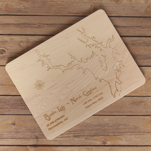 Badin Lake, North Carolina Cutting Board - Tressa Gifts