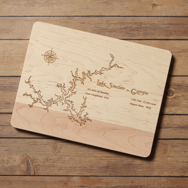 Lake Sinclair, Georgia Cutting Board - Tressa Gifts