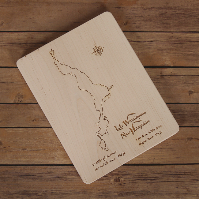Lake Winnisquam, New Hampshire Cutting Board - Tressa Gifts