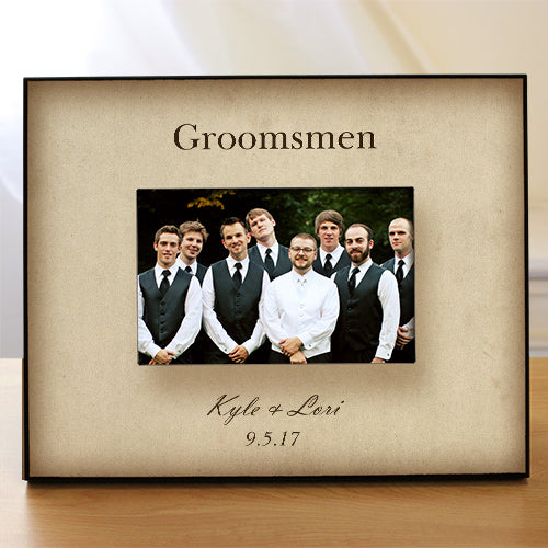 Personalized Groomsmen Printed picture Frame - Tressa Gifts