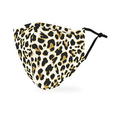 Adult Reusable, Washable Cloth Face Mask With Filter Pocket - Leopard Print - Tressa Gifts