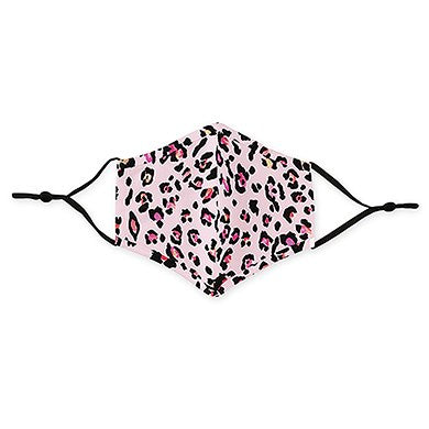 Adult Reusable, Washable Cloth Face Mask With Filter Pocket - Pink Leopard Print