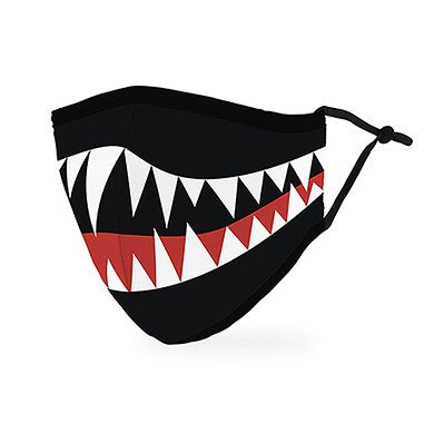 Adult Reusable, Washable Cloth Face Mask With Filter Pocket - Monster Mouth