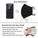 Adult Reusable, Washable Cloth Face Mask With Filter Pocket - Many Faces