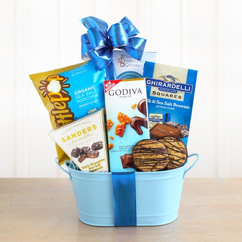 Carmel by the Sea Salt Chocolate Gift Basket - Tressa Gifts