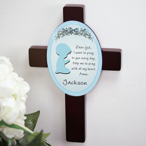 Boy's Bedroom Personalized Prayer Cross