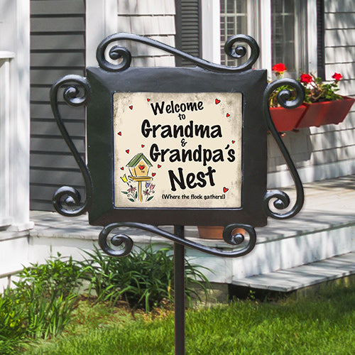 Our Nest Personalized Garden Stake