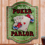 Personalized Poker Parlor Wall Sign - Tressa Gifts