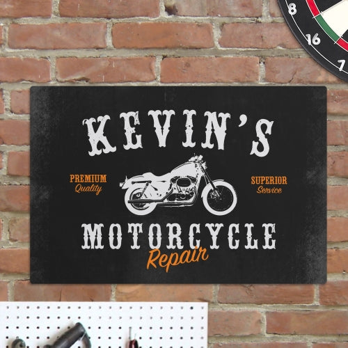 Motorcycle Metal Sign - Tressa Gifts