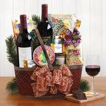 Napa Valley Christmas Charm Wine Gift Basket - Tressa Gifts