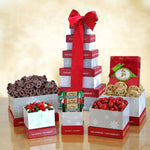 Winter Wonderland Holiday Treats Gift Tower - Tressa Gifts