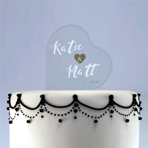 Personalized Bride and Groom Acrylic Cake Topper - Tressa Gifts