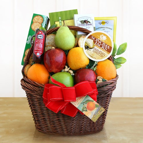 CA Fruitful Greetings Basket Deluxe - Tressa Gifts