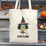 Personalized Halloween Witch Tote Bag - Tressa Gifts