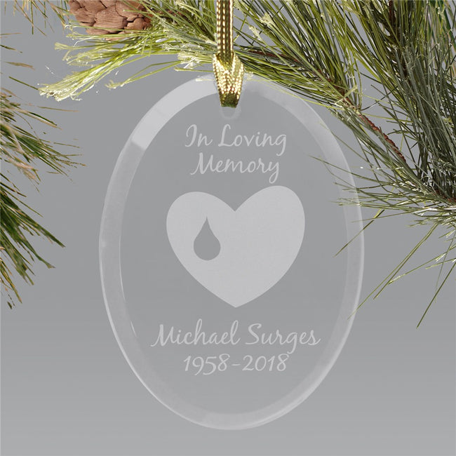 Personalized Memorial Ornament | Glass