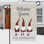 Personalized Welcome Gnome Garden Flag - Tressa Gifts