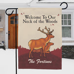 Neck of the Woods Personalized Garden Flag - Tressa Gifts