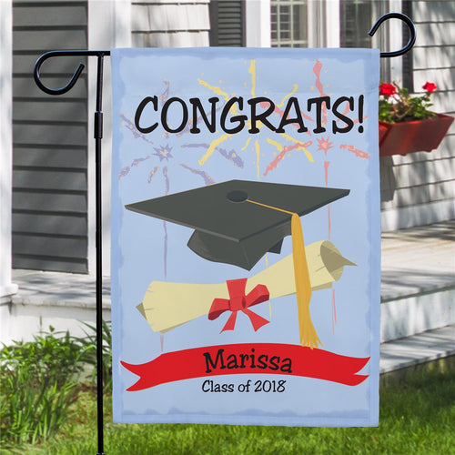 Graduation Congrats Personalized Garden Flag - Tressa Gifts