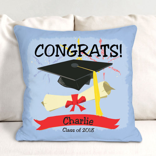 Personalized Graduation Congrats Throw Pillow - Tressa Gifts