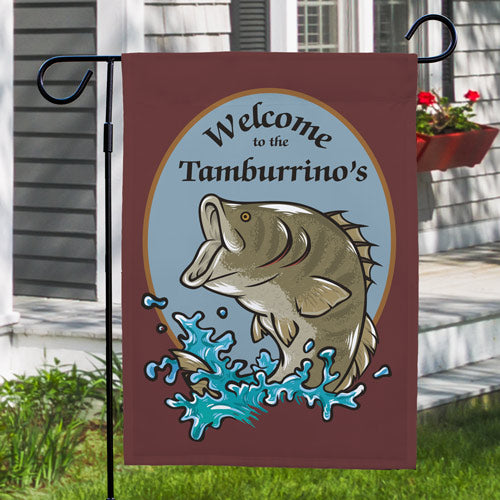 Personalized Bass Fishing Flag