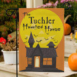 Personalized Haunted House Garden Flag - Tressa Gifts