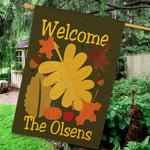 Personalized Welcome Fall House Flag - Tressa Gifts