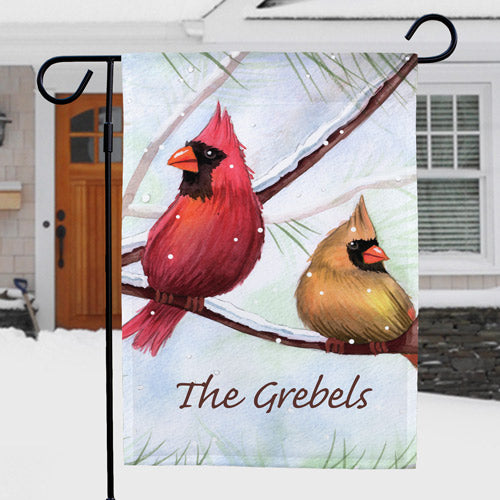Personalized Cardinals Garden Flag - Tressa Gifts