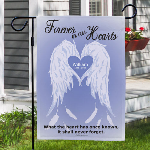 Personalized Forever In Our Hearts Lawn Flag