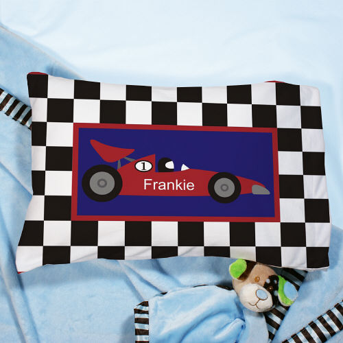 Personalized Race Car Pillow - Tressa Gifts