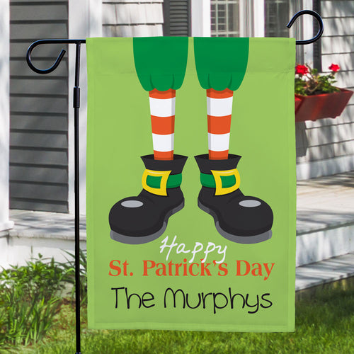 Personalized Happy St. Patrick's Day Garden Flag - Tressa Gifts