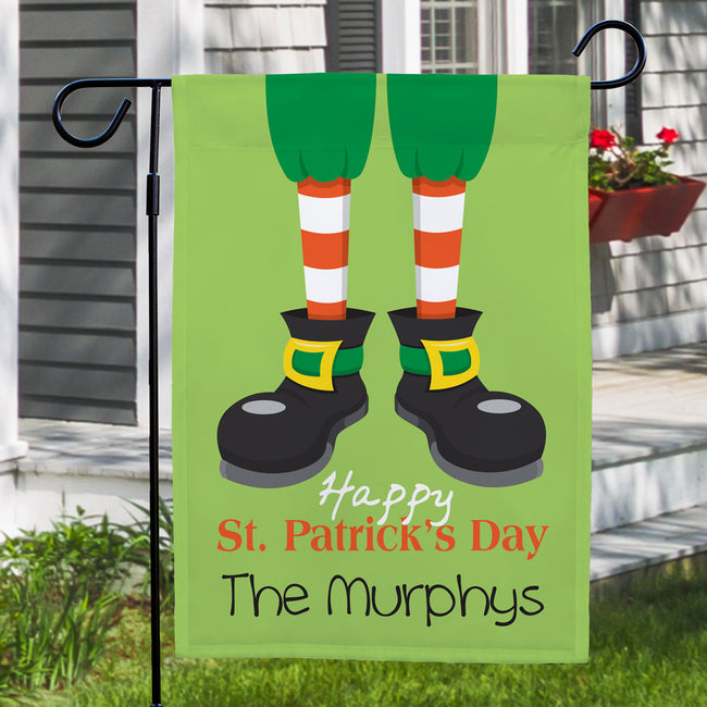 Personalized Happy St. Patrick's Day Garden Flag