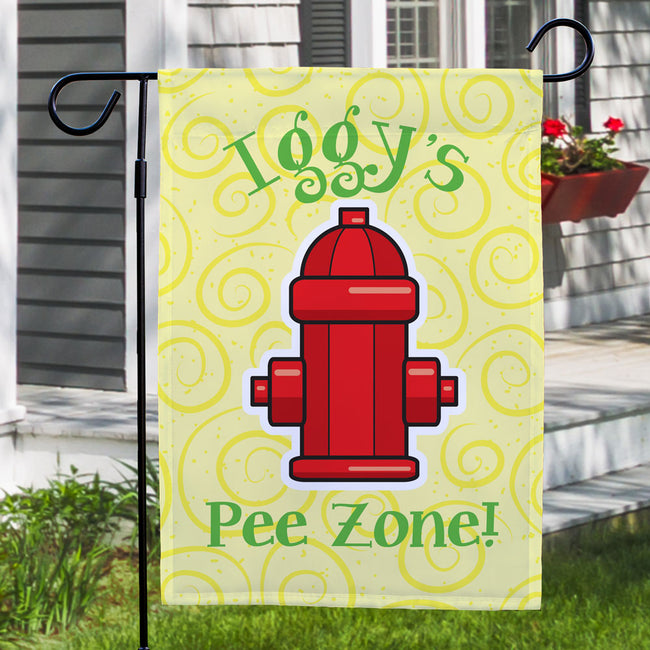 Personalized Pee Zone Garden Flag