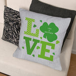Personalized Shamrock Love Throw Pillow - Tressa Gifts