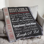 Personalized Wedding Tapestry Throw - Tressa Gifts