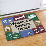 Doggy's House Personalized Pet Doormat - Tressa Gifts