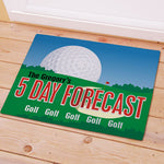 Personalized Golf Forecast Doormat - Tressa Gifts