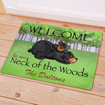 Personalized Bear Neck Of The Woods Doormat - Tressa Gifts