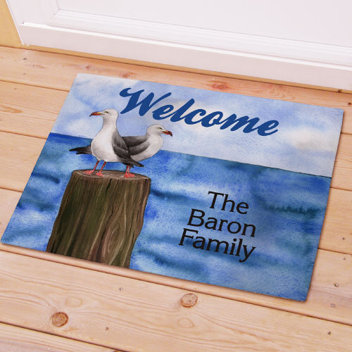 Personalized Welcome Doormat Seagull Design - Tressa Gifts